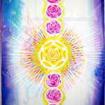 Obraz z złotą różą