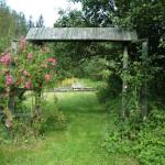 Bramka w ogrodzie